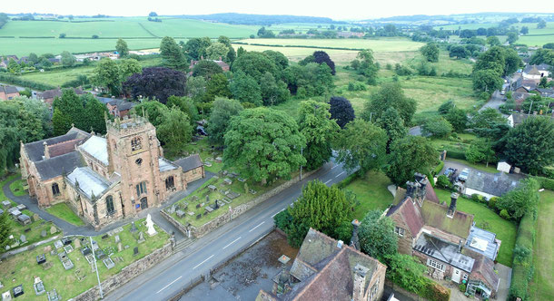 All Saints Church, Conservation Area and countryside beyond