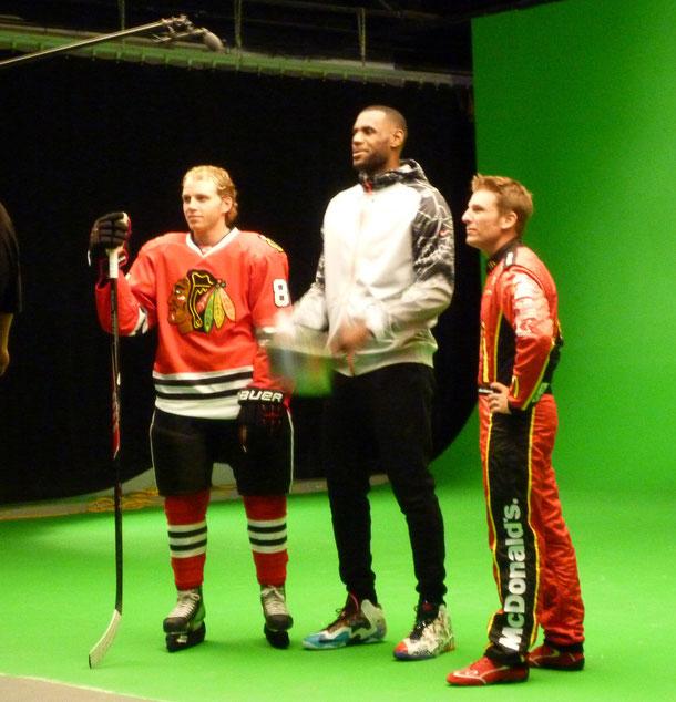 Lebron James @ Studio 526 for McDonalds Commercial