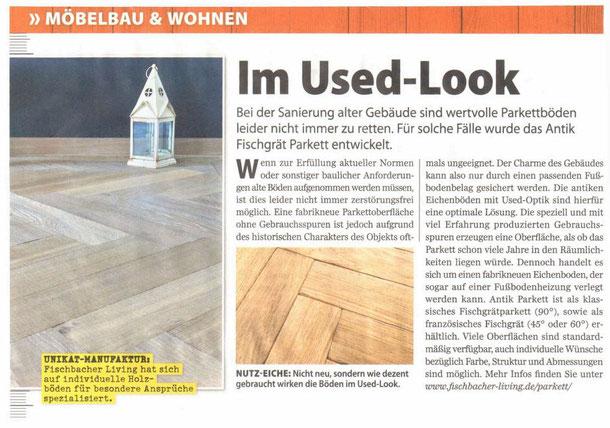 """Presseveröffenlichung in der Zeitschrift """"selbst ist der Mann"""" im Juni 2018  - S. Fischbacher Living"""