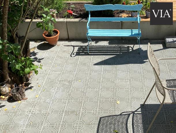 VIA Zementfliesen / Trottoirplatten für den Außenbereich, Modell AP15