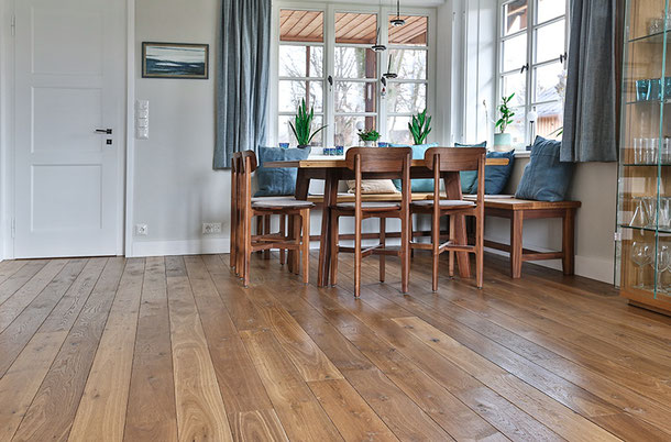 "S. Fischbacher Living - Parkettdielen ""Old Manor"", Farbe Dark Grey"