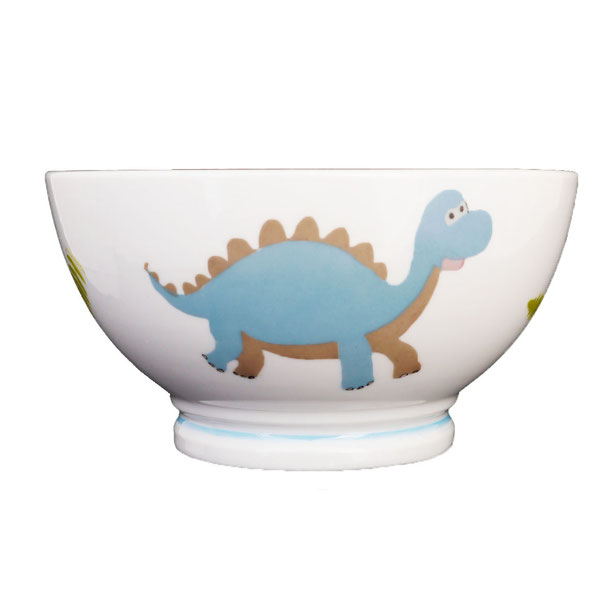 Bol enfant dinosaure en porcelaine personnalisable