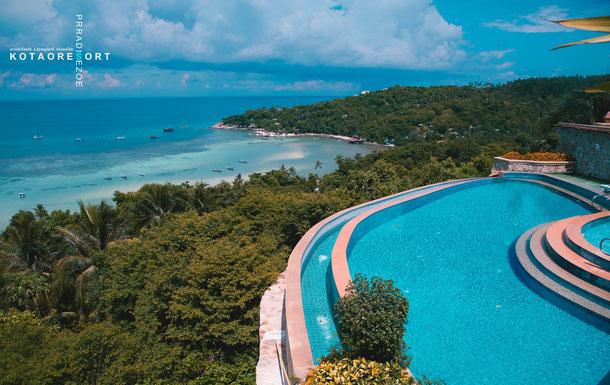 Koh Tao Resort - Pool und Ausblick aufs Meer. Fantastisch!