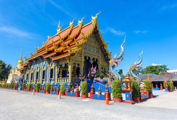 Wat Rong Sua zehn Tempel blauer tempel