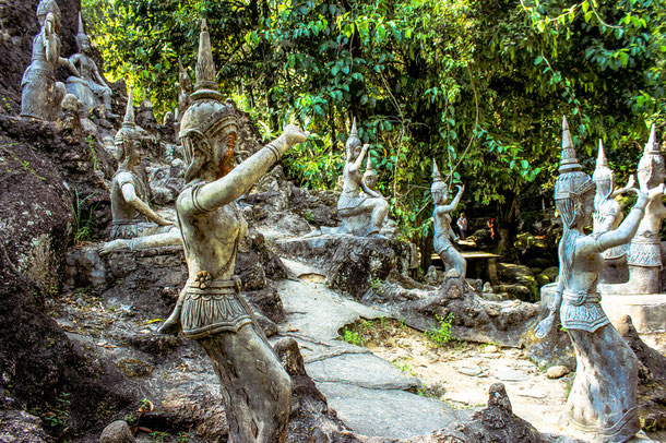 Magic garden in Koh Samui