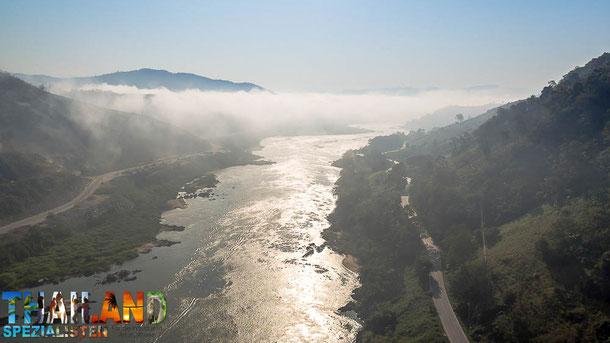 Mekong Fluss in Chiang Khong