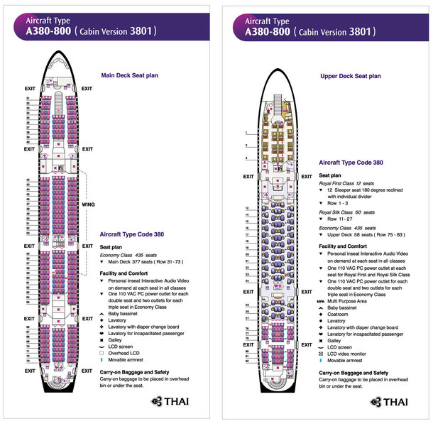 sitzplan thai airways a380
