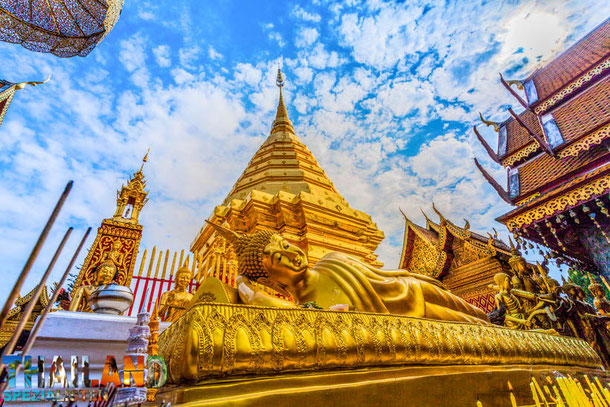 Goldene Pagode Wat Phrathat Doi Suthep