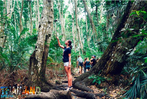 Touristen von Bangkok nach Unbon Ratchathani in Ost-Thailand