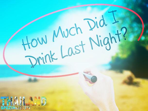Alkohol und KO-Tropfen Thailand