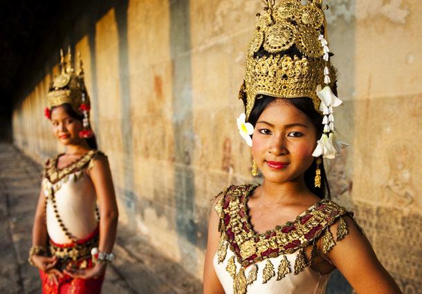 Kambodschanische Tänzerinnen