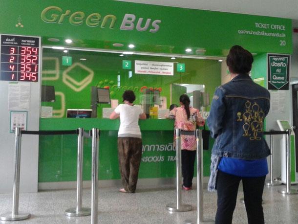 Green Bus Ticketschalter