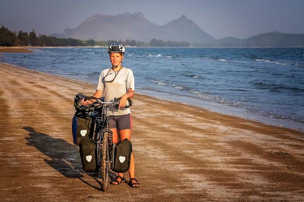 Fahrradtour an den Küsten Thailands wie beispielsweise bei Ban Krut