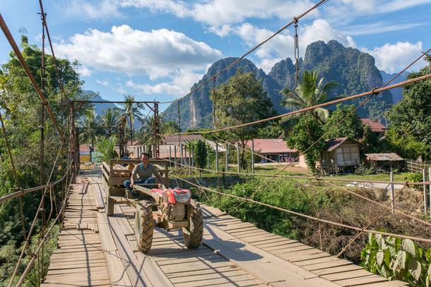 Bewohner in Vang Vieng