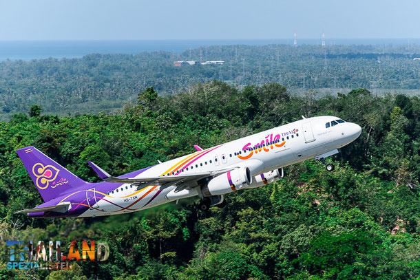 Thai Smile Airbus A320 von Phuket nach Bangkok - Chiang Mai
