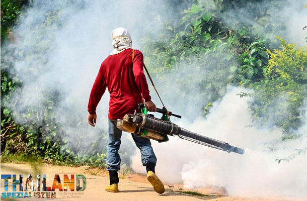 Nebelwerfer zum Schutz gegen Dengue-Fieber in Risikoreichen Gebieten Thailands