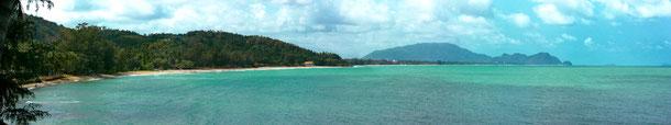 Lagune-Strandpanorama Khanom