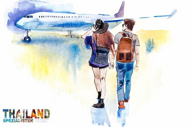 Backpacker buchen Flüge nach Bangkok meist im Internet
