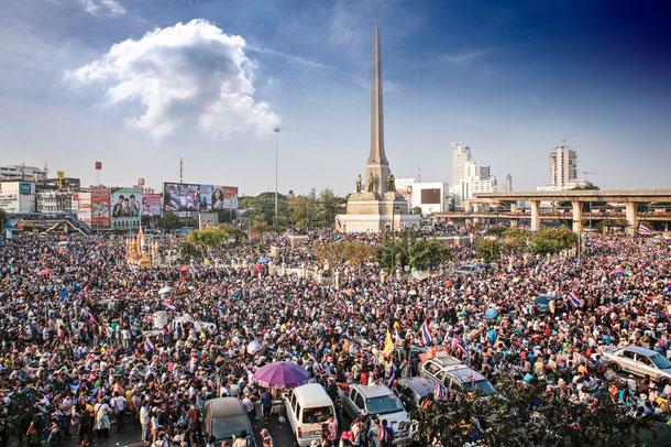 Bangkok Demonstrationen 2014
