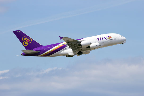 Thai Airways Int. von Franfurt nach Bangkok im A380