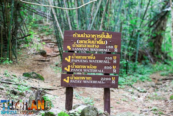 Wasserfälle und Trekkingrouten in Tak