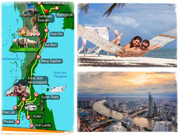 Thailand-Spezialisten Reise - Von Bangkok in den Süden Überlandtour