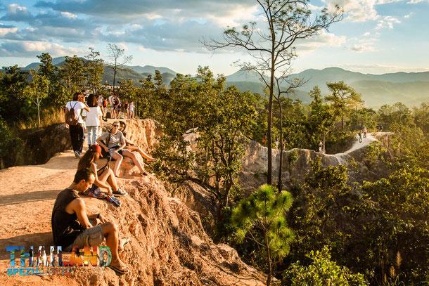 Beliebte Sehenswürdigkeit in Pai: Der Pai Canyon, Kong Lan.