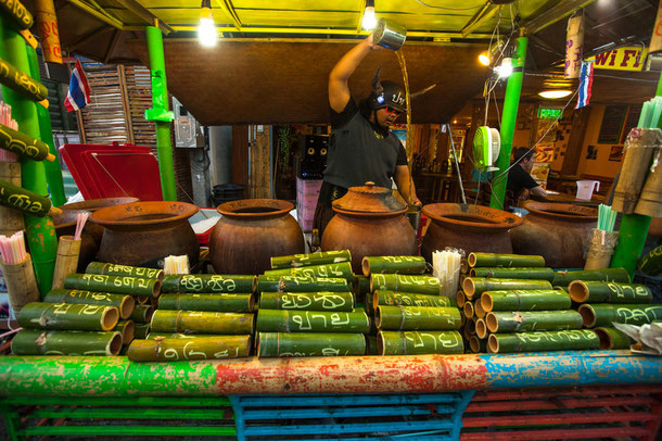 Nachtmarkt in Pai, Thailand (Provinz Mae Hong Son)