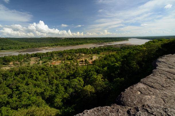 Der Mekong fließt durch den Pha Taem Nationalpark