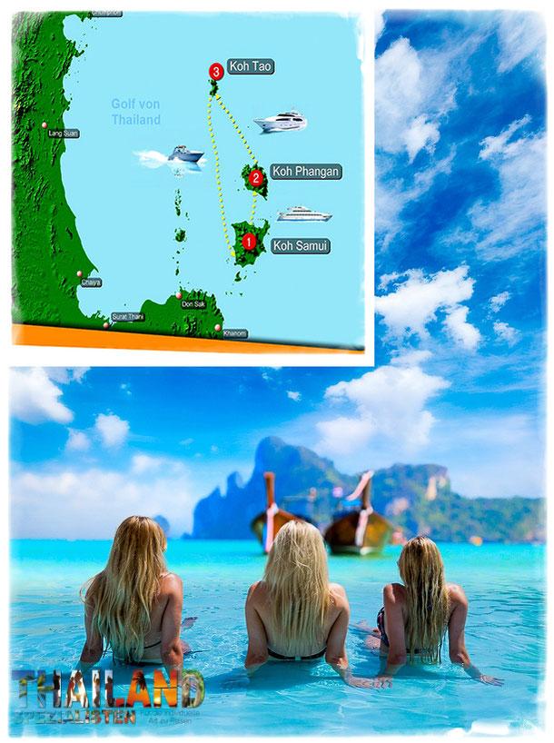 Inselhopping Koh Samui, Koh Phangan und Koh Tao für 535 Euro bei den Thailand-Spezialisten