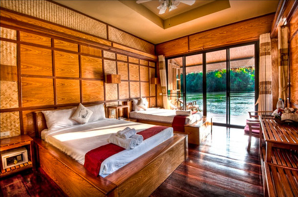 Boutique Raft Resort in einer River Kwai Suite