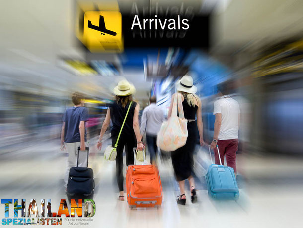Phuket airport, Koh Samui airport und natürlich der Flughafen in Chiang Mai.