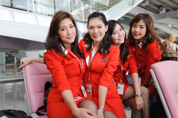 Thai Air Asia Crew am Bangkok Airport BKK