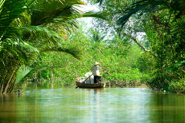 Mekong Delta in Can Tho, Vietnam