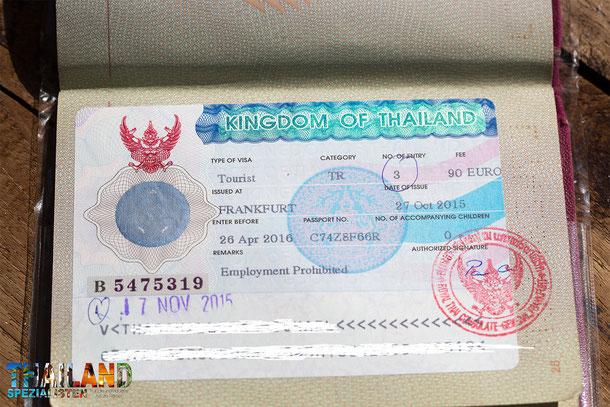 Tourist Visa Thailand