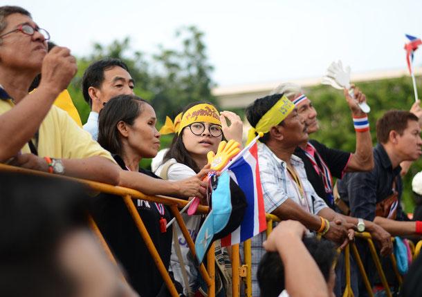 Anti-Regierungs Gegner in Bangkok