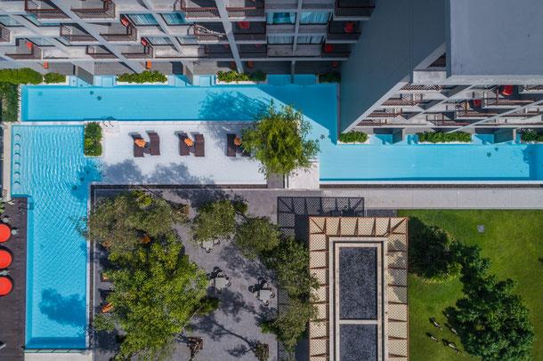Proud Phuket Hotel Luftaufnahme des Hotels
