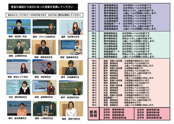 中学部ネット授業詳細