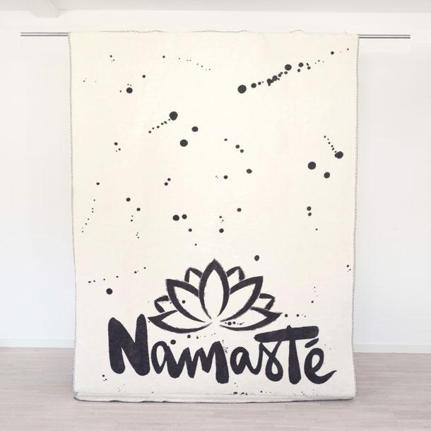 Namasté Decke aus 100% Bio Baumwolle
