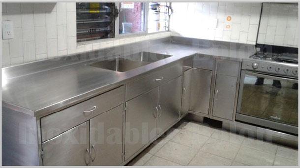 Cocina integral de acero inoxidable p gina web de for Cocinas de acero inoxidable para casa