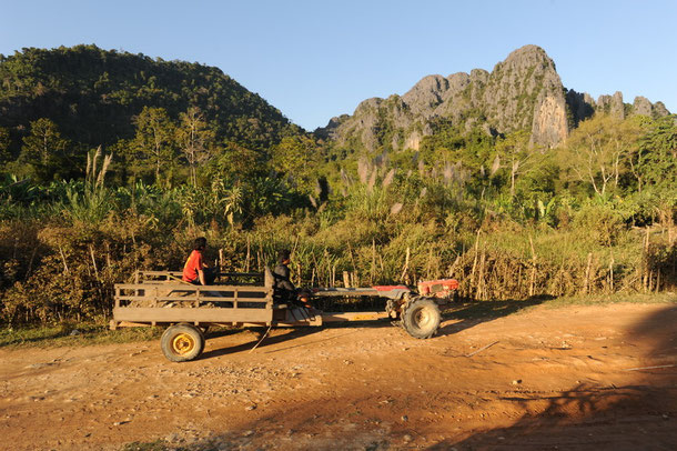 Inlandsreisen in Laos