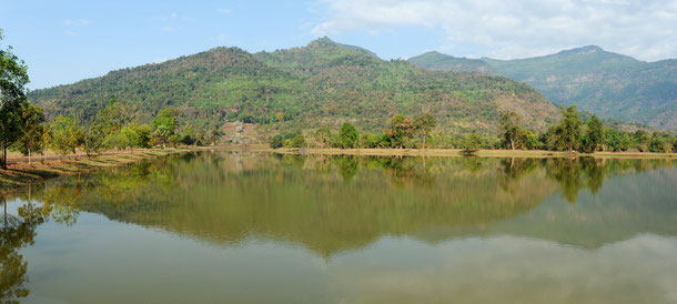 Lake at Wat Phu, Champasak