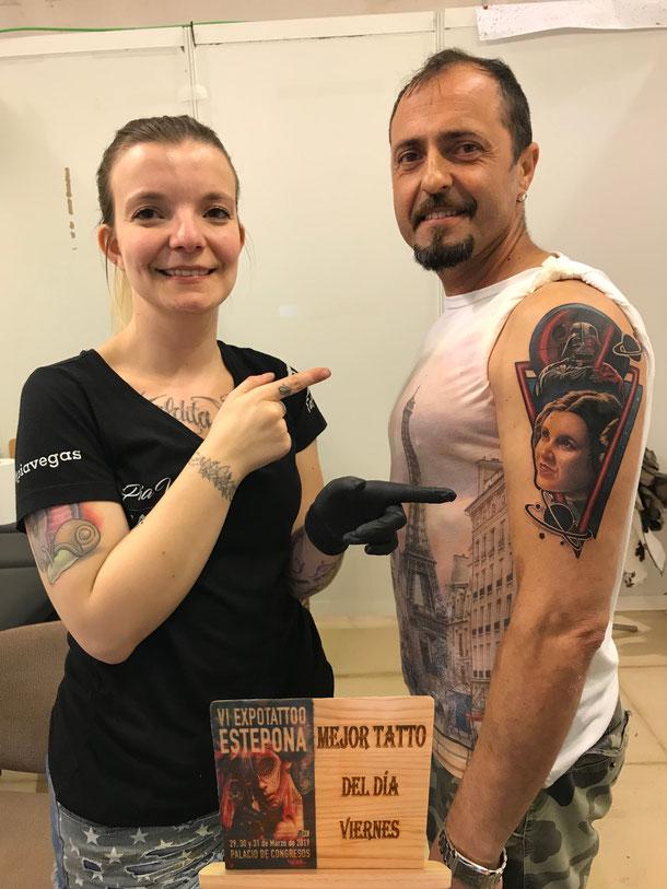 pia vegas ausgezeichnet best of day expo tattoo estepona