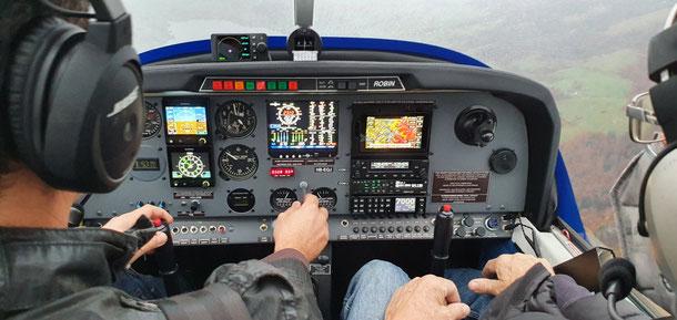 modernes Cockpit