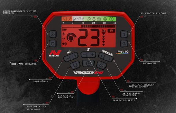 Display Minelab Vanquish 540