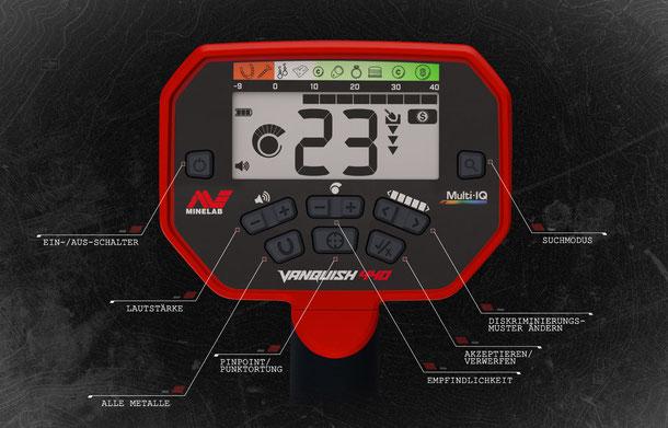 Display Minelab Vanquish 440