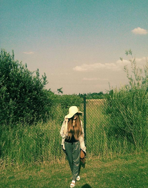 Bild Stohhut im Sommer