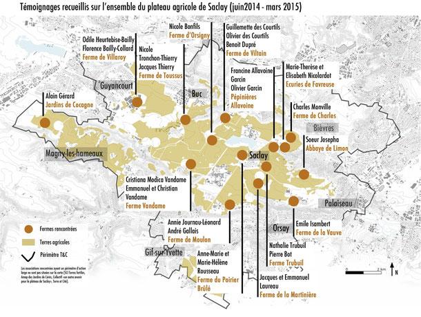 Carte réalisée par l'association Terre et Cité pour le livre Terres Précieuses