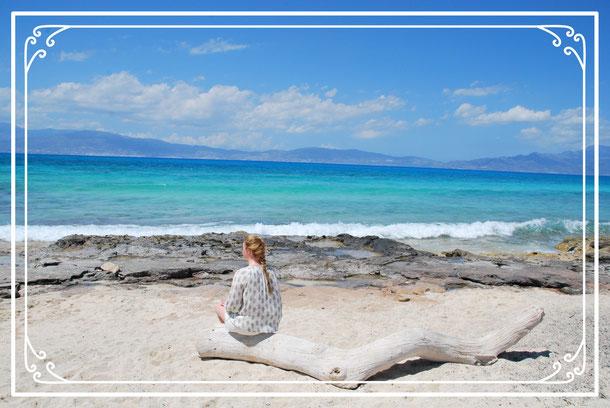 Blick auf das Mittelmeer Insel Chrissi Kreta Insel Chrissy