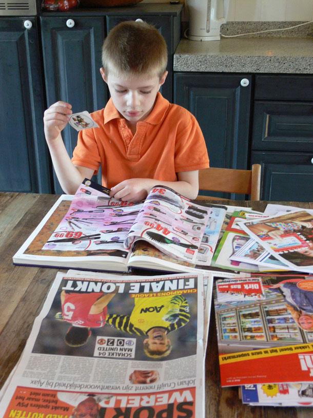 donald duck,krantjes of boekjes lezen